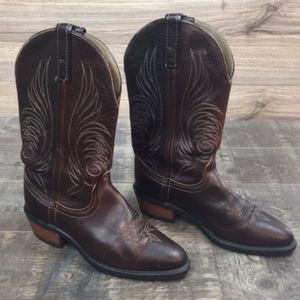 Dan Post embroidered cowboy boots nonskid sole